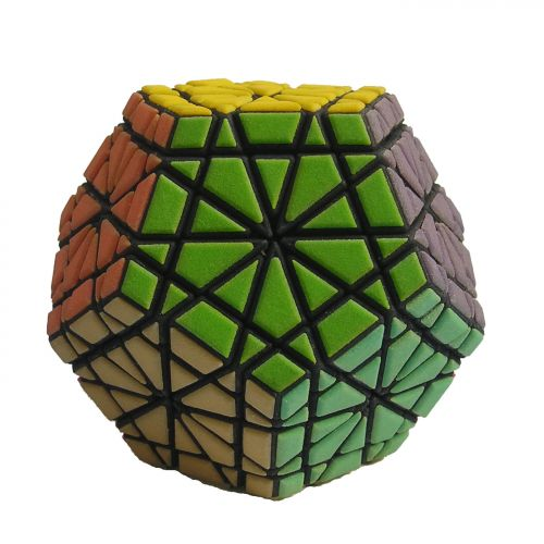 Master Brilic very difficult custom Rubiks cube type twisty puzzle like the Gigaminx and Mefferts Pyraminx Crystal puzzle